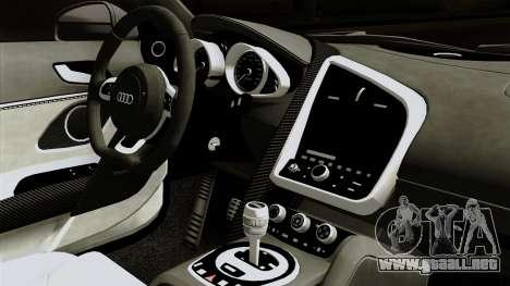 Audi R8 v1.0 Edition Liberty Walk para la visión correcta GTA San Andreas