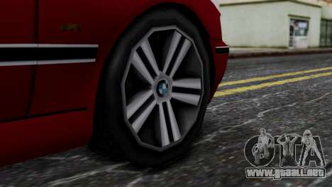 BMW M5 E39 SA Style para GTA San Andreas vista posterior izquierda