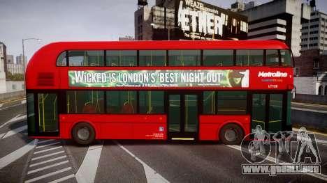 Wrightbus New Routemaster Metroline para GTA 4 left