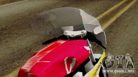 Honda RC166 v2.0 World GP 250 CC para GTA San Andreas vista hacia atrás