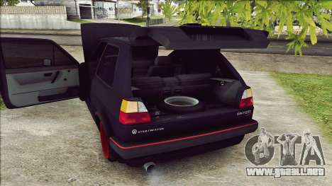 Volkswagen Golf Mk2 Line para GTA San Andreas vista hacia atrás
