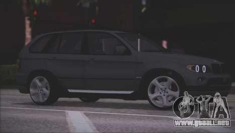 BMW X5 E53 para vista inferior GTA San Andreas