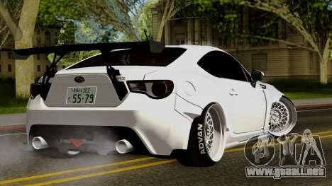 Subaru BRZ 2010 Rocket Bunny v1 para GTA San Andreas left