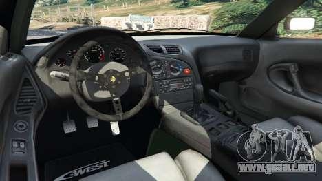 GTA 5 Mazda RX-7 C-West v0.3 vista lateral trasera derecha
