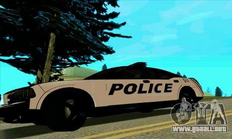 Federal Police Dodge Charger SRT8 para GTA San Andreas left