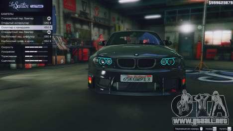 GTA 5 BMW 1M v1.0 delantero derecho vista lateral
