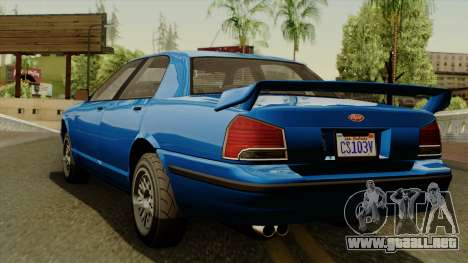 GTA 5 Vapid Stanier II IVF para GTA San Andreas left