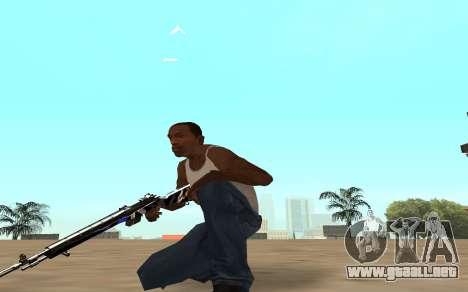 Rifle con un cachorro de tigre para GTA San Andreas sucesivamente de pantalla
