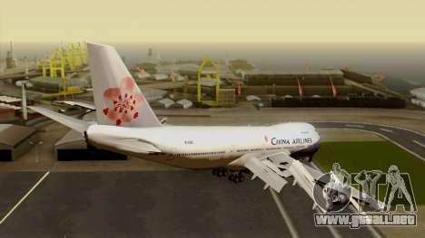 Boeing 747-200 China Airline para GTA San Andreas left