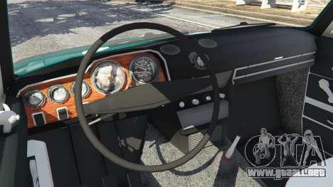 GTA 5 VAZ-2106 v0.2 vista lateral trasera derecha