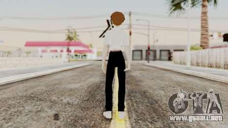Shinji Ikari (Evangelion) para GTA San Andreas tercera pantalla