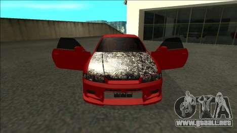 Nissan Skyline R33 Fairlady para visión interna GTA San Andreas