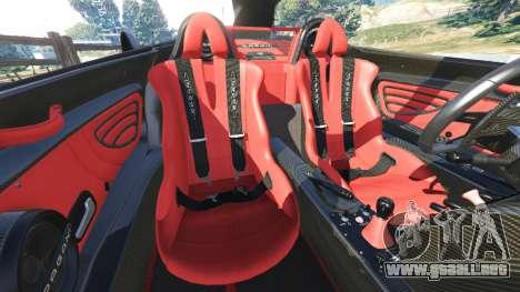 GTA 5 Pagani Zonda Cinque Roadster volante