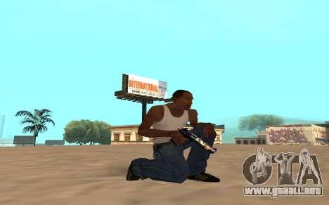 Desert Eagle con un cachorro de tigre para GTA San Andreas sucesivamente de pantalla