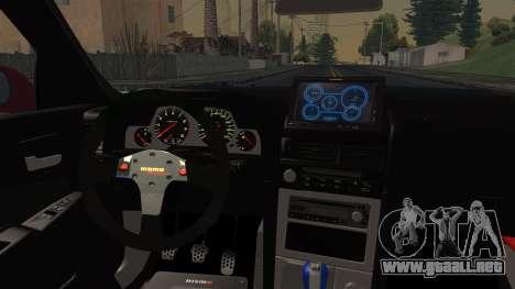Nissan Skyline GT-R R34 2012 para la visión correcta GTA San Andreas