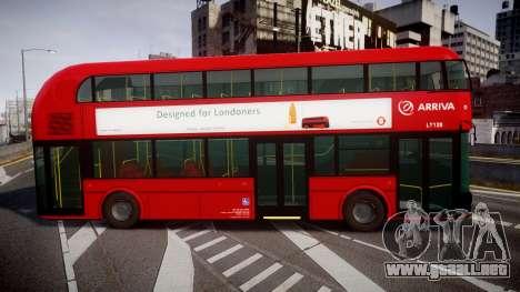 Wrightbus New Routemaster Arriva para GTA 4 left
