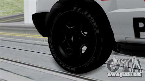 Chevrolet Blazer 2010 para GTA San Andreas vista posterior izquierda