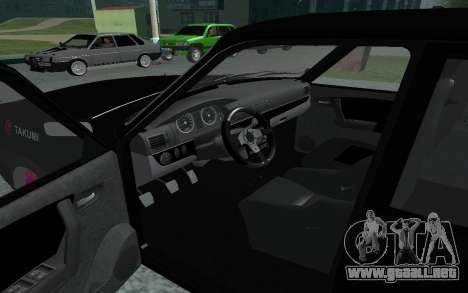 GAS de 31105 Volga para GTA San Andreas vista hacia atrás