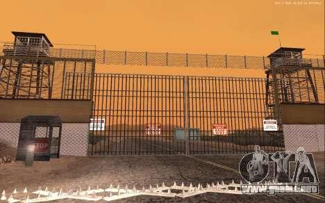 Nueva Base Militar v1.0 para GTA San Andreas quinta pantalla