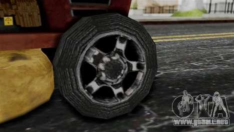 Mower from Bully para GTA San Andreas vista posterior izquierda