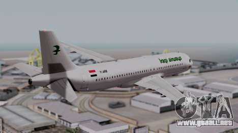 Airbus A320-200 Iraqi Airways para GTA San Andreas left