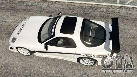 GTA 5 Mazda RX-7 C-West v0.3 vista trasera