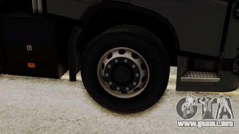 Volvo FH Euro 6 10x4 Exclusive Low Cab para GTA San Andreas vista posterior izquierda