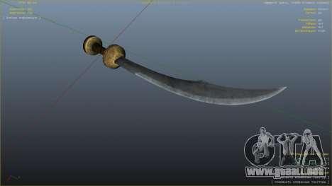 GTA 5 Cimitarra de Skyrim sexta captura de pantalla