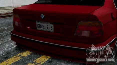 BMW M5 E39 SA Style para la visión correcta GTA San Andreas