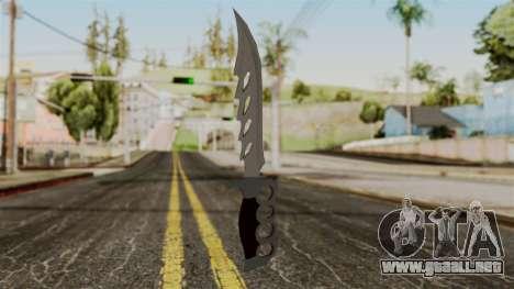 El cuchillo para GTA San Andreas segunda pantalla