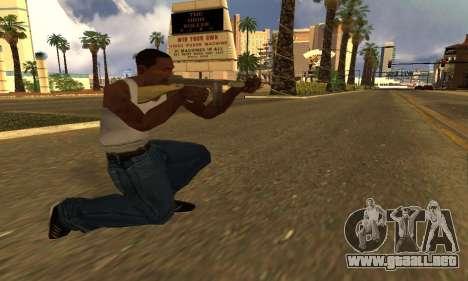 GTA 5 Gusenberg Sweeper para GTA San Andreas segunda pantalla