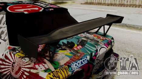 Nissan R13 para GTA San Andreas vista hacia atrás