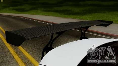 Subaru BRZ 2010 Rocket Bunny v1 para GTA San Andreas vista hacia atrás
