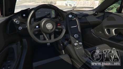 GTA 5 McLaren P1 2014 v1.2 vista lateral trasera derecha