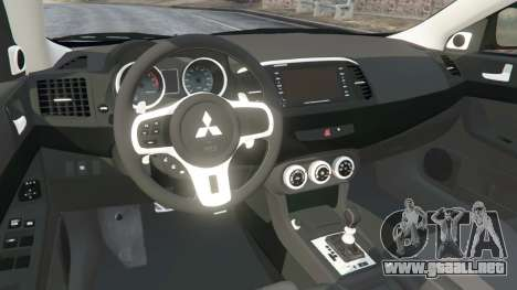 GTA 5 Mitsubishi Lancer Evolution X vista lateral derecha