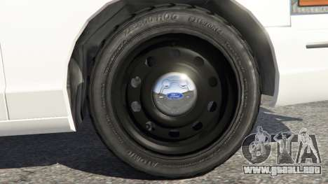 GTA 5 Ford Crown Victoria 1999 Police v0.9 vista lateral trasera derecha