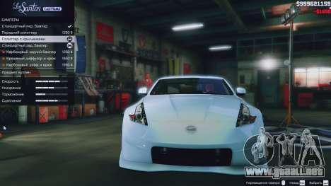 Nissan 370z para GTA 5