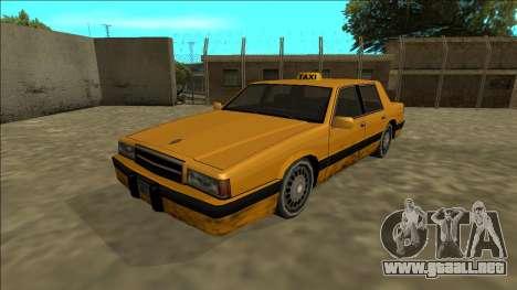 Willard Taxi para GTA San Andreas vista posterior izquierda
