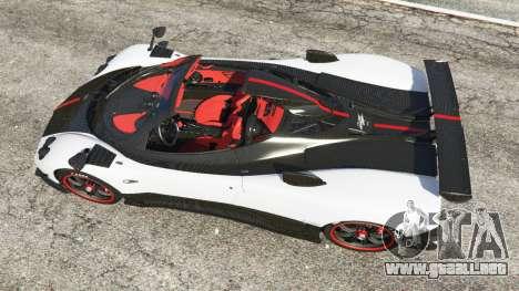 GTA 5 Pagani Zonda Cinque Roadster vista trasera