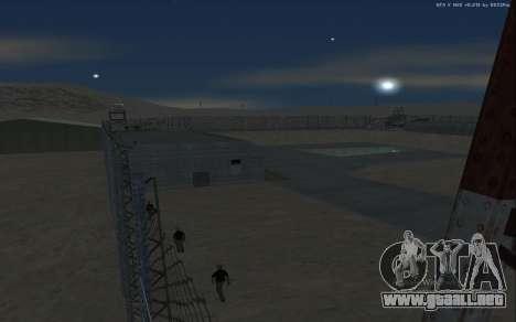 Nueva Base Militar v1.0 para GTA San Andreas twelth pantalla