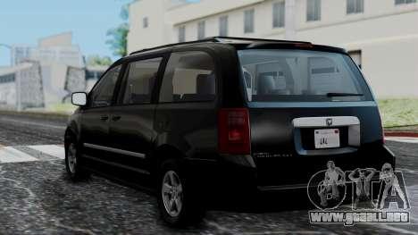 Dodge Grand Caravan 2010 para GTA San Andreas left