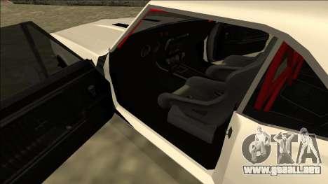 Chevrolet Camaro SS Drift para la visión correcta GTA San Andreas