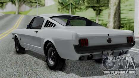 Ford Mustang Fastback 289 1966 para GTA San Andreas left