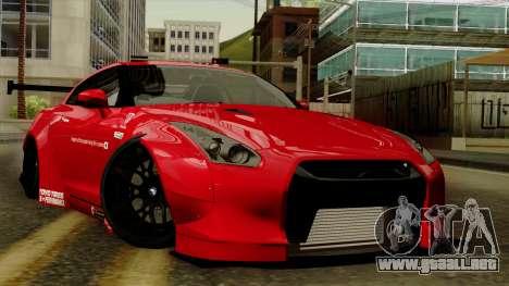 Nissan GT-R Liberty Walk Performance para GTA San Andreas