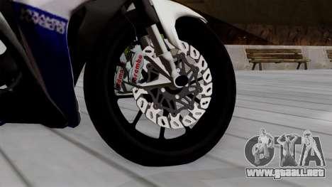 Yamaha YZF R-25 GP Edition 2014 para GTA San Andreas vista posterior izquierda