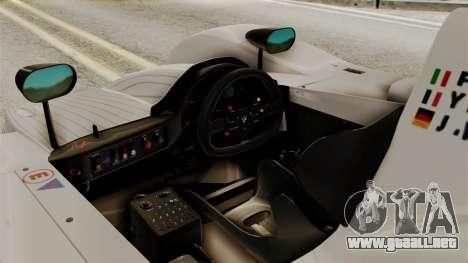 BMW V12 LMR 1999 Stock para la visión correcta GTA San Andreas
