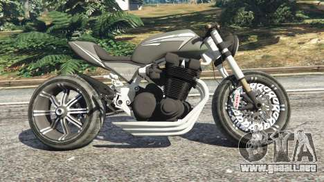GTA 5 Honda CB 1800 Cafe Racer with Stickers vista lateral izquierda