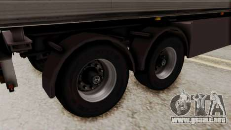 Cooliner Trailer from ETS 2 para GTA San Andreas vista posterior izquierda