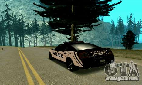 Federal Police Dodge Charger SRT8 para GTA San Andreas vista posterior izquierda