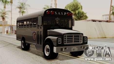 Prison Bus para GTA San Andreas